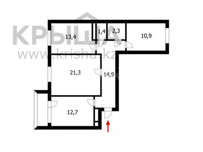 3-комнатная квартира, 79 м², 9/14 этаж, Кордай 75 за 23.3 млн 〒 в Нур-Султане (Астана), Алматы р-н — фото 22