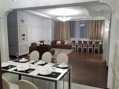 5-комнатная квартира, 203 м², 9 этаж помесячно, Байтурсынова 9 за 900 000 〒 в Нур-Султане (Астана), Алматы р-н