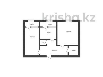 2-комнатная квартира, 65.8 м², 2/5 этаж, мкр. Батыс-2, Батыс 2 микрорайон за 15.5 млн 〒 в Актобе, мкр. Батыс-2