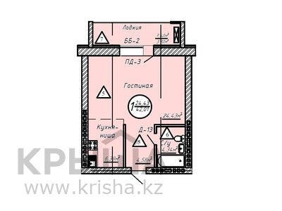 1-комнатная квартира, 42.01 м², 2/9 этаж, 189-я улица — Бейсековой за 9.2 млн 〒 в Нур-Султане (Астана), Сарыарка р-н — фото 3