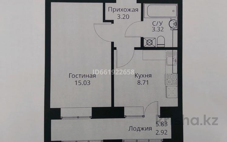 1-комнатная квартира, 33.1 м², 9/9 этаж, Туран за 12.6 млн 〒 в Нур-Султане (Астана), Есиль р-н