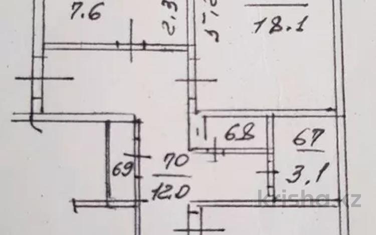 3-комнатная квартира, 66.3 м², 7/9 этаж, мкр Аксай-1, Толе би 5 — Саина за 24.3 млн 〒 в Алматы, Ауэзовский р-н