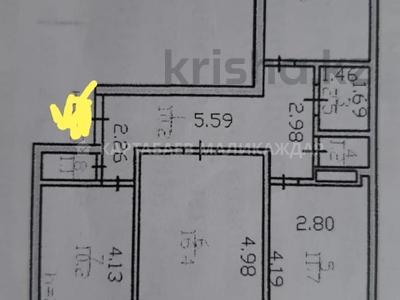 3-комнатная квартира, 68 м², 3/9 этаж, проспект Абылай Хана — Манаса за 22.3 млн 〒 в Нур-Султане (Астане), Алматы р-н