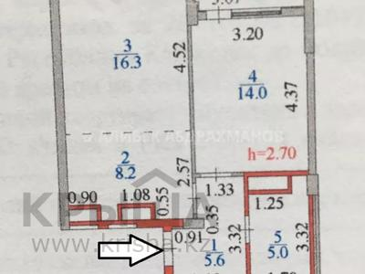 2-комнатная квартира, 51 м², 9/9 этаж, E 755 1 за 17 млн 〒 в Нур-Султане (Астана), Есиль р-н — фото 3