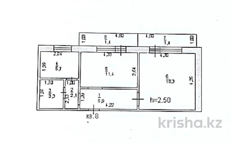 2-комнатная квартира, 49 м², 2/9 этаж, Энергетиков 40 за 6.9 млн 〒 в Экибастузе
