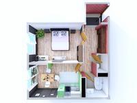 1-комнатная квартира, 50.9 м², 2/9 этаж, мкр Думан-2 за ~ 15.8 млн 〒 в Алматы, Медеуский р-н