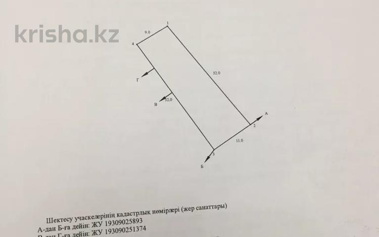 Участок 3.2 сотки, Мкр. Север 36 за 12 млн 〒 в Шымкенте, Енбекшинский р-н