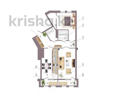 2-комнатная квартира, 83.39 м², пр-т. Мәңгілік Ел стр. 35 за ~ 31.7 млн 〒 в Нур-Султане (Астана), Есиль р-н — фото 2
