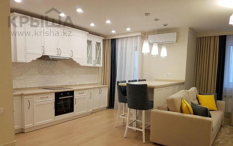 2-комнатная квартира, 65 м², 9 этаж помесячно, Кайыма Мухамедханова 4а за 200 000 〒 в Нур-Султане (Астана), Есиль р-н