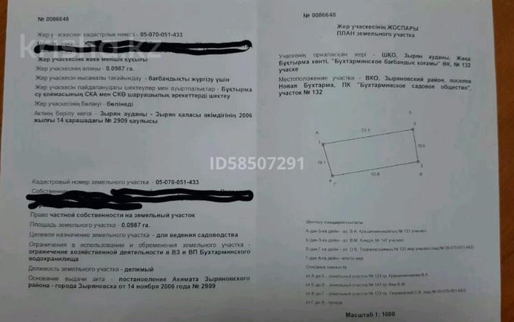 Участок 10 соток, Новая Бухтарма за ~ 1.5 млн 〒 в Усть-Каменогорске