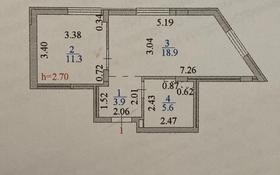 1-комнатная квартира, 40 м², 1/5 этаж, ул. Бараева 18/1 — Валиханова за 18 млн 〒 в Нур-Султане (Астана), р-н Байконур