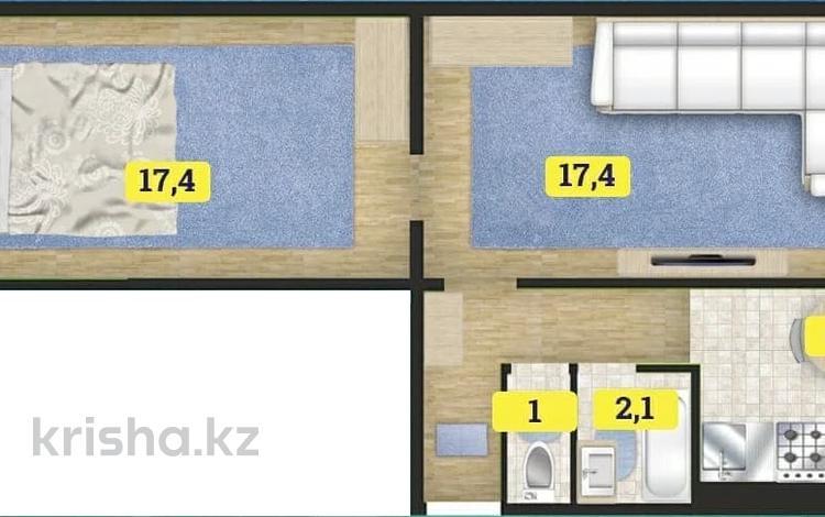2-комнатная квартира, 44.5 м², 2/5 этаж, Ленинградская 29 за ~ 5.3 млн 〒 в