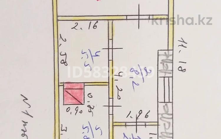 3-комнатный дом, 48.4 м², 5 сот., Мерәлі (Комсомольская) 18/2 за 2.5 млн 〒 в Таскала