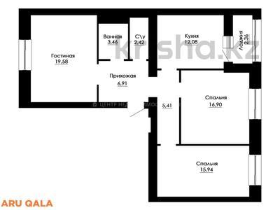 3-комнатная квартира, 85.06 м², Кайыма Мухамедханова 12 за ~ 26.7 млн 〒 в Нур-Султане (Астана), Есиль р-н — фото 9