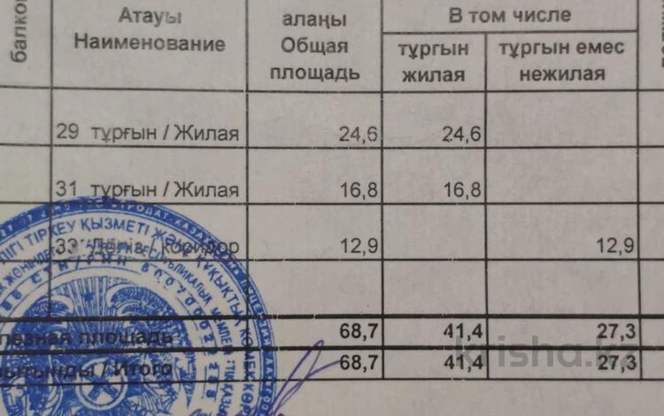 2-комнатная квартира, 68.7 м², 2/18 этаж, Брусиловского за 32 млн 〒 в Алматы