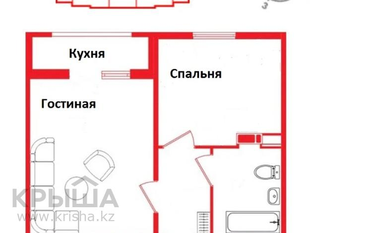 2-комнатная квартира, 34.5 м², 10/12 этаж, мкр Акбулак, 1-я улица за 15.3 млн 〒 в Алматы, Алатауский р-н