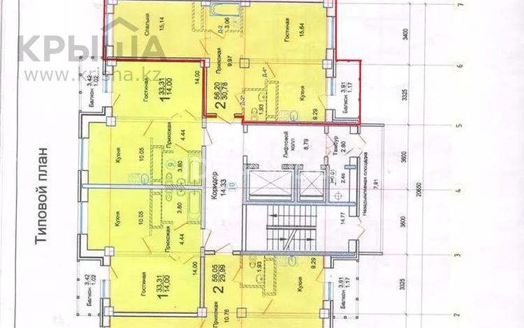 2-комнатная квартира, 56 м², 7/17 этаж, Тлендиева 16 за 12 млн 〒 в Нур-Султане (Астана), Сарыарка р-н