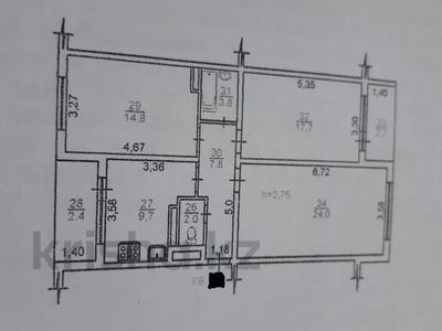 3-комнатная квартира, 85 м², 9/9 этаж, Жас Канат, Баймагамбетова за 18.7 млн 〒 в Алматы, Турксибский р-н — фото 10