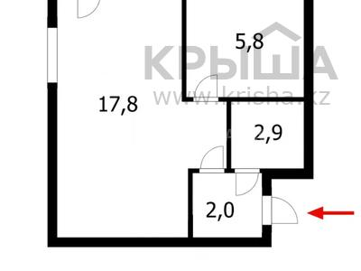 1-комнатная квартира, 32 м², 3/4 этаж, Бейбитшилик 69 за 8.5 млн 〒 в Нур-Султане (Астана), Сарыарка р-н — фото 4