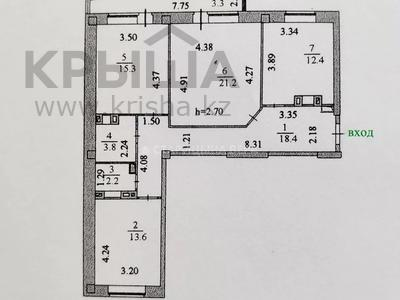 3-комнатная квартира, 90.2 м², 8/9 этаж, Малика Габдуллина 12/1 — Амангельды Иманова за 29 млн 〒 в Нур-Султане (Астана), р-н Байконур — фото 14