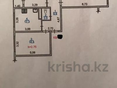3-комнатная квартира, 76 м², 8/9 этаж, Жас Канат, Баймагамбетова за 21.5 млн 〒 в Алматы, Турксибский р-н — фото 6