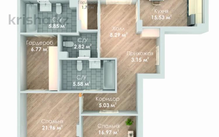 3-комнатная квартира, 123 м², 2/8 этаж, Сарайшык — Динмухамеда Кунаева за ~ 54.1 млн 〒 в Нур-Султане (Астана), Есиль р-н