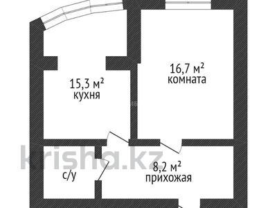 1-комнатная квартира, 43.9 м², 6/8 этаж, мкр. Батыс-2, проспект Алии Молдагуловой за 14.5 млн 〒 в Актобе, мкр. Батыс-2