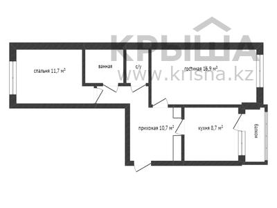 2-комнатная квартира, 54 м², 4/5 этаж, Штабная улица 13 за 10 млн 〒 в Костанае — фото 9