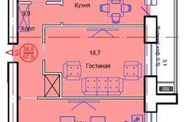 2-комнатная квартира, 67.9 м², 5/12 этаж, Тауелсиздик 34/8 за ~ 18.3 млн 〒 в Нур-Султане (Астана), Алматы р-н