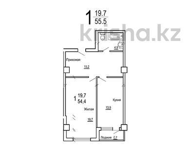 1-комнатная квартира, 55.5 м², 17 мкрн 18/2 за ~ 14.4 млн 〒 в Актау — фото 2