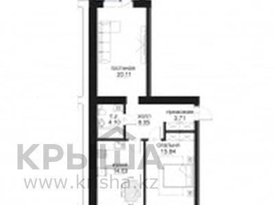 2-комнатная квартира, 65.41 м², 3/9 этаж, проспект Туран 46/2 за 26.5 млн 〒 в Нур-Султане (Астане), Есильский р-н