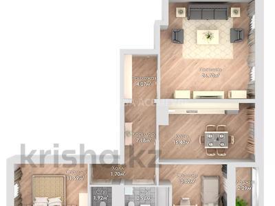 3-комнатная квартира, 84.41 м², 9 этаж, Ұлы Дала за ~ 24.2 млн 〒 в Нур-Султане (Астана), Есиль р-н — фото 2