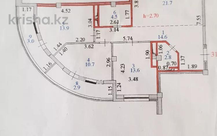 3-комнатная квартира, 87.7 м², 8/14 этаж, Сейфуллина 41 — Айманова за 35 млн 〒 в Нур-Султане (Астана), Сарыарка р-н