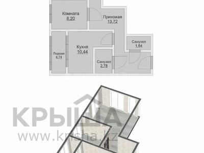 2-комнатная квартира, 62.04 м², 6/8 этаж, Кайыма Мухамедханова — Әйтеке би за ~ 18.6 млн 〒 в Нур-Султане (Астана), Есиль р-н — фото 2