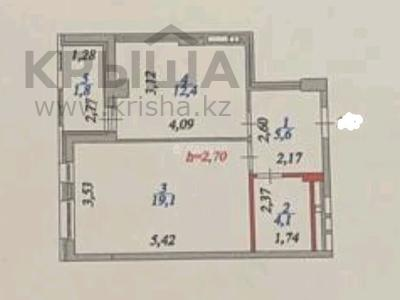1-комнатная квартира, 43 м², 16/16 этаж, Алматы 2 — Кабанбай батыра за 21 млн 〒 в Нур-Султане (Астане), Есильский р-н