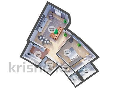 2-комнатная квартира, 77.95 м², Кажымукана 59 за ~ 59.2 млн 〒 в Алматы, Медеуский р-н — фото 2