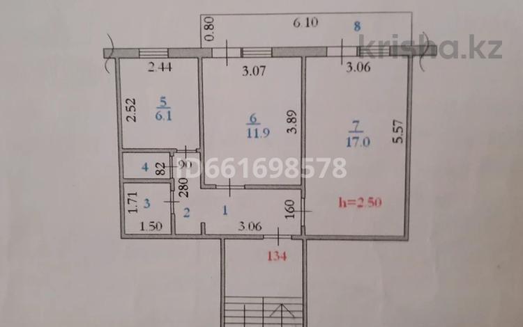 2-комнатная квартира, 47.6 м², 5/5 этаж, Дружба 14 за 4 млн 〒 в Кандыагаш