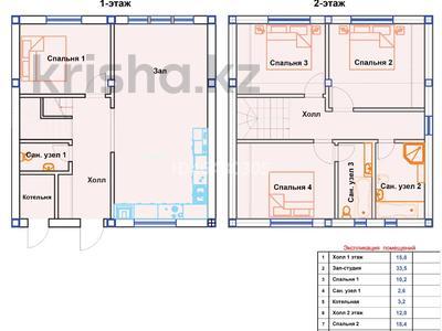 5-комнатная квартира, 131.6 м², мкр Кайрат, 16я линия 17 за ~ 24.3 млн 〒 в Алматы, Турксибский р-н — фото 6