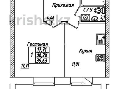 1-комнатная квартира, 39 м², 4/10 этаж, Айтматова 38 — Мухамедханова за 10.8 млн 〒 в Нур-Султане (Астана), Есиль р-н — фото 4