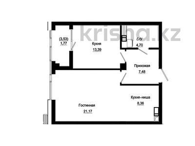 2-комнатная квартира, 57.75 м², 6/18 этаж, Е-10 17л за ~ 23 млн 〒 в Нур-Султане (Астана), Есиль р-н — фото 17