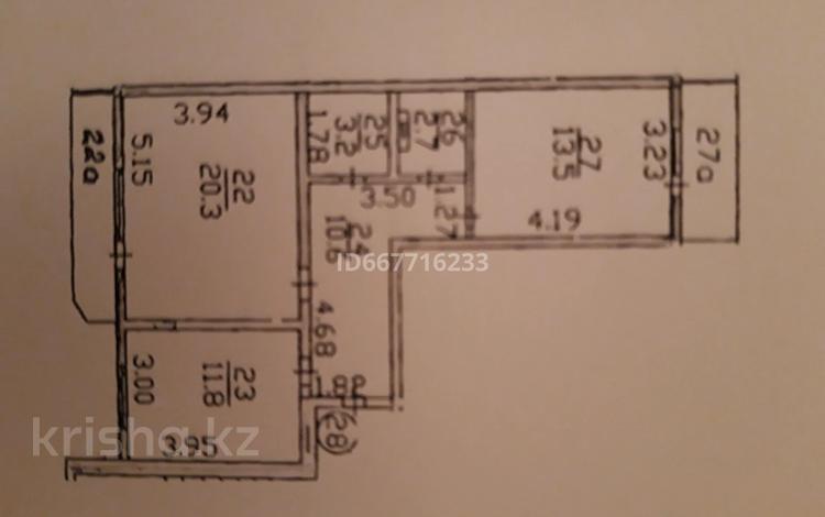 2-комнатная квартира, 65 м², 2/5 этаж, мкр Кокжиек 39 за 25 млн 〒 в Алматы, Жетысуский р-н