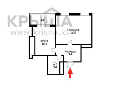 1-комнатная квартира, 41 м², 9/12 этаж, Акмешит 9/2 за 17.8 млн 〒 в Нур-Султане (Астане), Есильский р-н