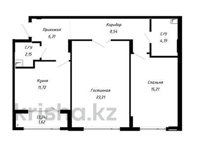2-комнатная квартира, 73.76 м², Абылхаир хана — Жумагалиева за ~ 22.6 млн 〒 в Атырау — фото 2
