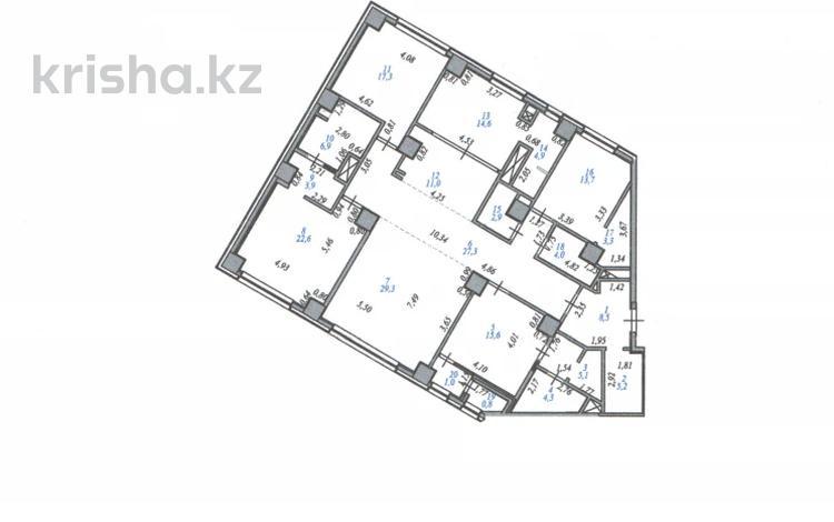 5-комнатная квартира, 202.2 м², 33/33 этаж, Ахмета Байтурсынова 9 за ~ 91 млн 〒 в Нур-Султане (Астана), Алматы р-н