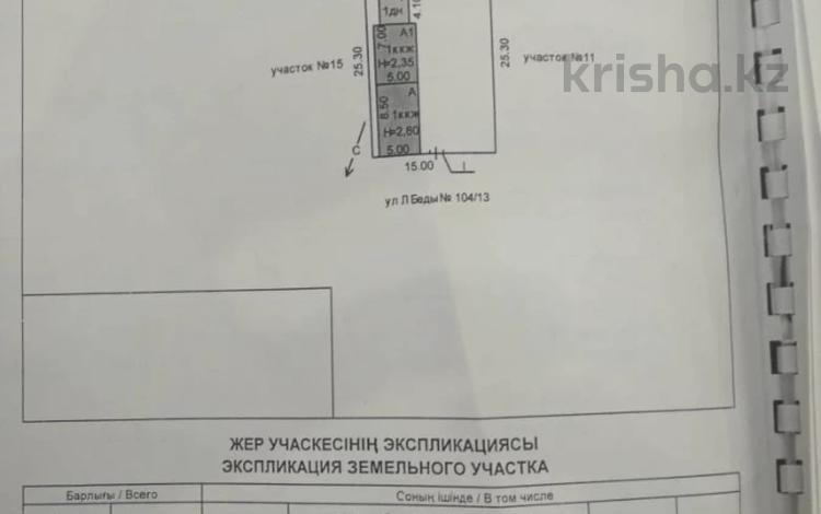 Участок 3.8 соток, Леонида Беды 104/13 за 5 млн 〒 в Костанае