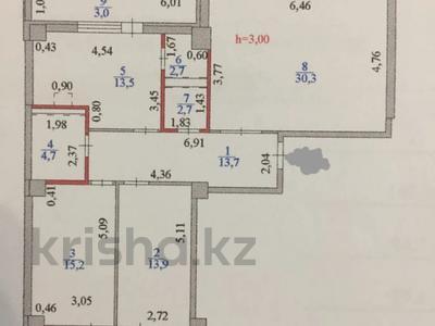 3-комнатная квартира, 102.8 м², 13/18 этаж, Кабанбай-батыра за 31 млн 〒 в Нур-Султане (Астана), Есиль р-н — фото 2