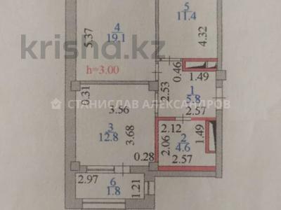 2-комнатная квартира, 56 м², 2/8 этаж, Кабанбай Батыра 58Б за 26.4 млн 〒 в Нур-Султане (Астана), Есиль р-н — фото 15