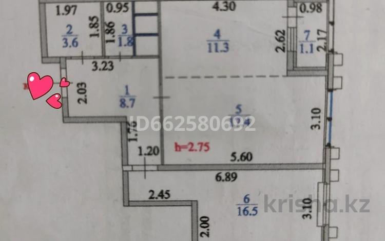 2-комнатная квартира, 60.4 м², 4/24 этаж, 23-15 28/1 за 25.8 млн 〒 в Нур-Султане (Астана), Алматы р-н