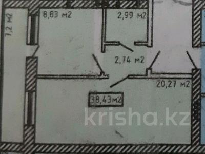 1-комнатная квартира, 38.4 м², 4/9 этаж, Байтурсынова — Жумабаева за 9.2 млн 〒 в Нур-Султане (Астане), Алматы р-н