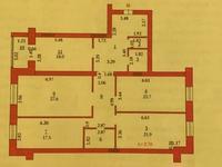 4-комнатная квартира, 155 м², 3/5 этаж, Мустафа Шокай за 28 млн 〒 в Актобе, мкр. Батыс-2